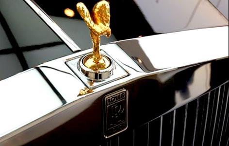劳斯莱斯车标 标牌 底座新版劳斯莱斯幻影车标 合金改装车高清图片