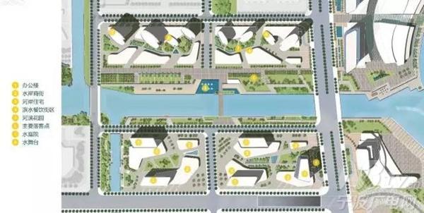 连续的人行动线; ●中山东路的延伸段景观大道设计; ●架空的连廊图片