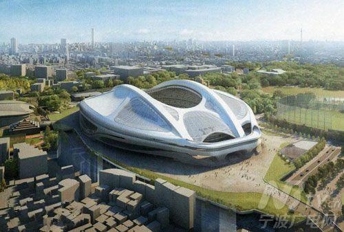 2020年東京奧運會主場館設計圖(《日本時報》網站)