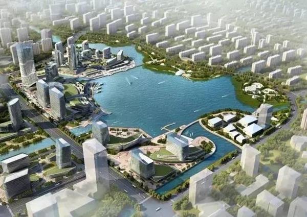 东部新城将有个明湖 水域面积有两个月湖大小