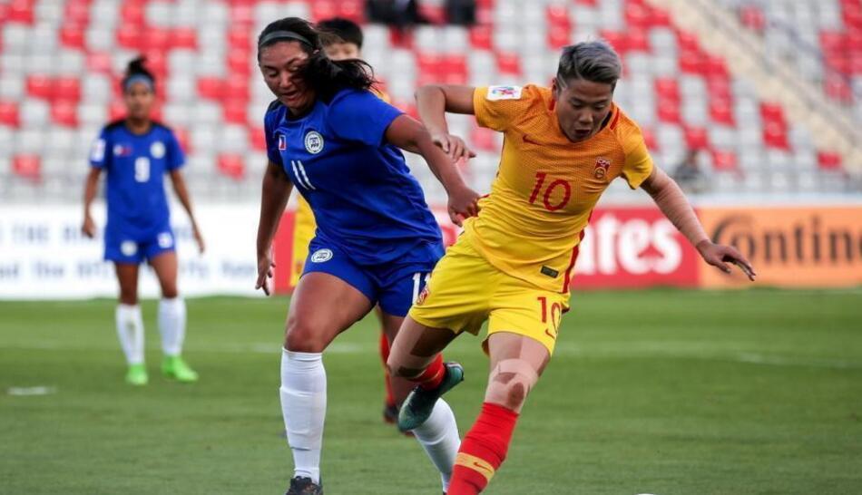 中国女足3-0胜菲律宾获世界杯入场券