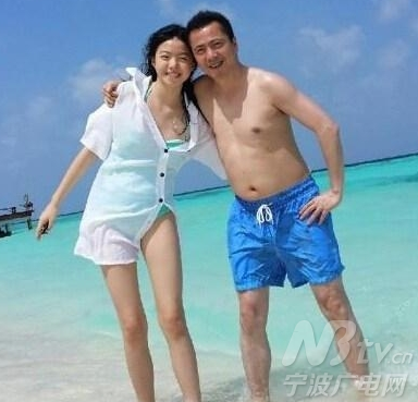 中时常分享自己的生活照:海边度假