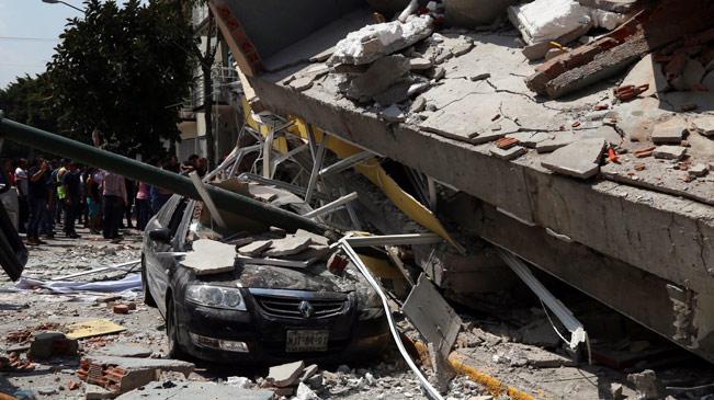 墨西哥中部发生7.1级地震 大量建筑倒塌