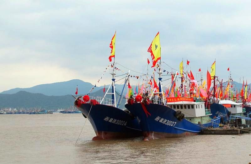 象山千余艘渔船出海作业 新鲜海货马上来了