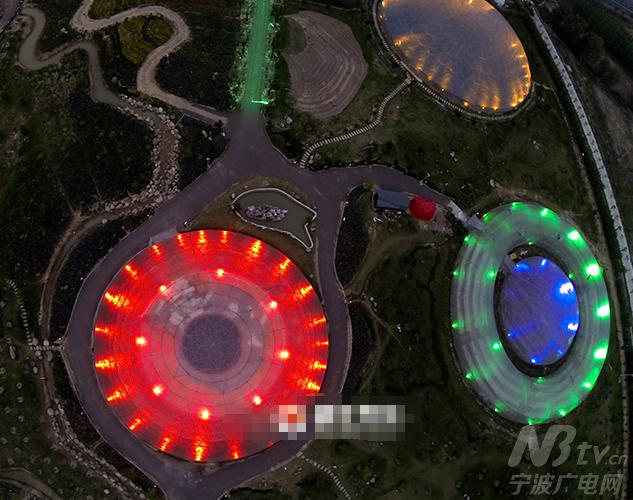 空中俯瞰浙江天台的一家太空农场