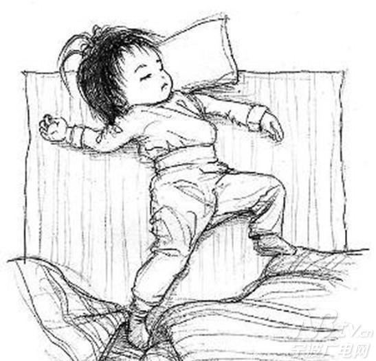 幼儿叠被子的简笔画步骤图片