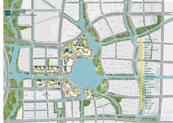 明湖环湖地区城市设计总平面图